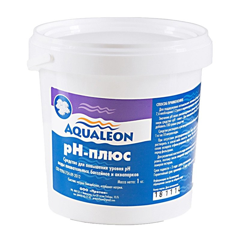 Регулятор pH-плюс гранулы 1 кг. Aqualeon - PHP1G