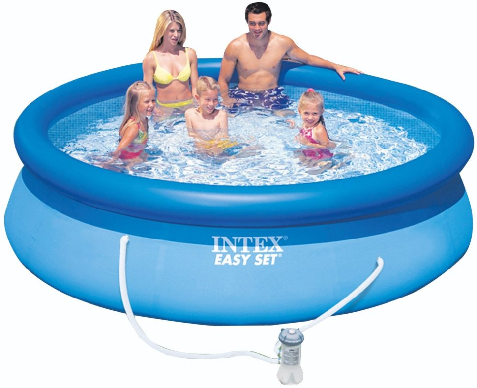 Надувной бассейн Intex 28158 Easy Set Pool (457 х 84 см)
